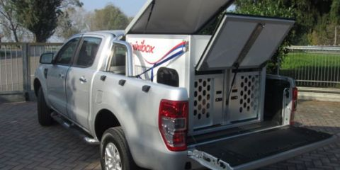 CELLULA PER TRASPORTO CANI SU PICK-UP FORD RANGER