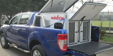 CELLULA PER TRASPORTO CANI SU PICK-UP FORD