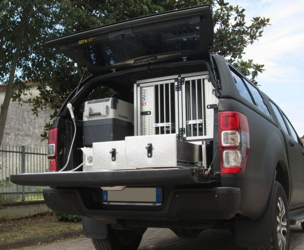 Pick-up: FURGONATURA TRASPORTO CANI SU FORD RANGER 07/20
